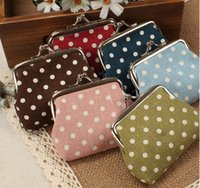 Wholesale Small Gift Cards Wholesale - girls Lovely Mini Women's Vintage Flower Coin Purse Money Bag Wallet Clutch Handbag Key Holder Hasp Small Gifts Wallet christmas gift