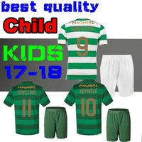17f16b1c5 Soccer Boys Short Celtic KIDS 2017 2018 Children kits soccer jerseys 17 18 Armstrong  GRIFFITHS Roberts