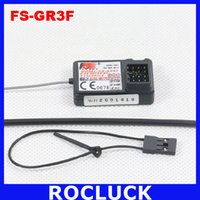 Wholesale Fs Gt2 - Original Flysky FS-GR3F 2.4GHz 3CH Receiver FS GR3F for FS-GT2 FS-GT3B FS-GT3C Transmitter