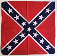 ingrosso fascia bandiera ribelle-55 * 55 cm Confederato Ribelle Bandiera bandana fa-stracci Guerra Civile Bandiera Bandana Fascia Per Bandane Adulti Cotone Poliestere Nazionale G148