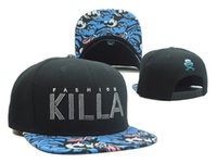 Wholesale Grey Brim Snapback - new KILLA cap flower brim baseball hats snapback caps for men women sports hip hop bones gorras brand sun hat Casquette cheap top quality