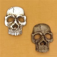 Wholesale 3d Decorations For Mobile Phone - Universal Creative Halloween 3D Resin Skull Cell Phone Decoration Mobile Phone DIY Accessories for Drinking Party