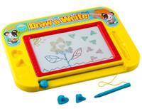ingrosso pannello di bordo-Tavolo da disegno magnetico per bambini Bambini piccoli con 2 francobolli e 1 penna Doodle Scribble Scrittura Bozza Schizzo Tavolo Pad 4 Colori Area
