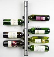 Wholesale Wine Rack 12 - New 2016 Stainless Steel Bar Wine Rack Wine Shelf Wall Mounted Holder 8 Bollles 12 Bottles