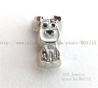 Wholesale Hot Sale Dog Charms - Hot sale New arrival animal lovely Dog FC1498 floating locket charm 10p With Lowest Price for living memory locket as best gift