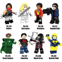 Super Heroes Serie Minifig Mix Lotto Elektra Sara Lance Firestorm Captain Cold PG8079 Minifig Mini Building Blocks Cifre