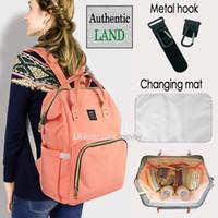 pañal de mochila al por mayor-2018 Land 26 colores Mamá Mochilas Bolsas de pañales Mamá Maternidad Pañal Mochila Bolsas de viaje al aire libre de gran volumen Free DHL MPB01