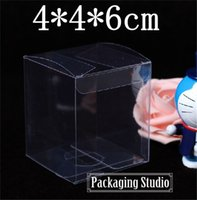 Wholesale Clear Display Packaging Gift Boxes - Free Shipping Plastic Gift Packing Box Clear Wedding Candy Craft Power Bank Packaging PVC Boxes 4*4*6cm Wholesale