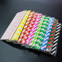 Wholesale Coloured Drinks - Streak Shape Paper Tubularis Party Supplies Creative Portable Drinking Straw Birthday Wedding Decorative For Multi Colour 0 08xm C