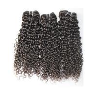 brasilianische jerry curl weben großhandel-BQ-Haar, das lockiges brasilianisches maiaysian indisches jerry lockiges 3pcs Bündel unverarbeitete Jerry-Locken-Menschenhaar-Webarthaar schnelle Lieferung webt