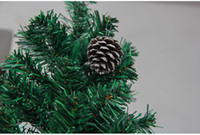 Wholesale painting christmas tree - The Christmas tree ornaments accessories The Christmas tree pine cones pendant Dyed the white paint pine cones 6 pcs set