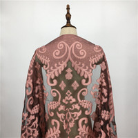 Wholesale Shawl Lace Hijab - Chiffon Scarf 2017 Women Fashion Embroidered Lace Floral Silk Scarves New Design Thin Soft Chiffon Wrap Scarves and Shawl Muslim Hijab Sjaal