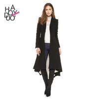 Wholesale Trench Wool Ladies Dress Coats - 2017 new Women trench coats Slim Long Wool Blends Coat dress Fashion victorian Brand double breasted Winter Woollen Coat ladies Overcoat