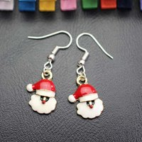 Wholesale Christmas Presents Ornaments - Christmas Serie Earring Stud Earrings Father Christmas Santa Claus Kriss Kringle Shape Xmas ornament Present Gift Sale By Bulk