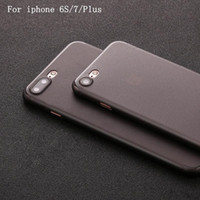 Wholesale Translucent Netting - Net minimum price Case For Iphone7 7 Plus 6 6sPlus 5 5se Ultra-thin 0.3mm Total Package Side Translucent Light Frosted Glass Phone Case