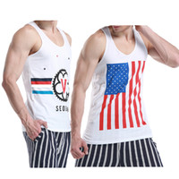 Wholesale Sports Singlets For Men - Wholesale-Men's Sports Tank Tops Summer New Compression Sleeveless Undershirt Man Bodybuilding Top Gym Singlets for Male Hot Selling