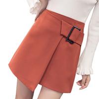 Wholesale Korean Slim Skirt - Korean elegant slim women skirt 2017 summer autumn irregular lace up skirts saia midi high quality office work mini faldas mujer
