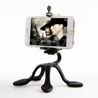 Wholesale Phone Mount Stand Camera - Portable Universal Flexible Gecko Mini Tripod Mount Multi Function Phone Camera Stand Octopus Spider Holder For All Phones