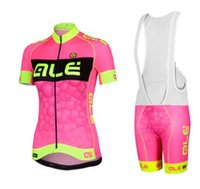 Wholesale Set Woman Team - 2016 women's ALE team cycling jerseys road bike wear bicycle clothing ropa ciclismo mujer cycling set Wholesale retail racmmer