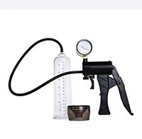 Wholesale Pump Pressure Gauges - Male Hand Drive Penis Pump Enlarger Enlargement With Master Pressure Gauge Extension For Male Help Penis Extender Sex Toys