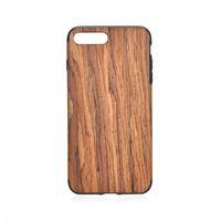 natürliche holz handy fällen großhandel-Naturholz-Holzetui 2 in 1 abnehmbaren TPU-Handy-Rückseiten-Abdeckungs-Fällen für Iphone 5 6