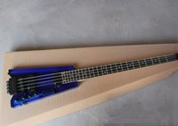 Wholesale Electric Guitar Plexiglass - Aliens without neck Blue plexiglass acrylic body Four strings electric bass Rosewood fingerboard 0411