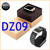 Wholesale Lcd Screen Watches - 1.56'' LCD Screen Bluetooth Smart Watch DZ09 Multi-language Wearable Clock For Android & IOS With Retail Box 20pcs Free DHL