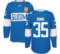 Wholesale Orange Team Names - 2016 World Cup of Hockey Finland Team Jersey Rinne Laine KORPIKOSKI DONSKOI POKKA AHO KOSKINEN LEPISTO Jerseys Any Name and Any Number