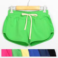 Wholesale Plus Size Workout Pants - Shorts Women Summer 2017 Fashion Elastic Waist Soft Cotton Short Feminino Casual Fitness Workout Plus Size Short Pants