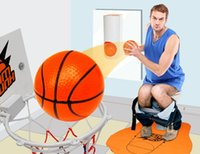 Wholesale Plastic Toy Toilets - Christmas Gifts Toilet Basketball Game Gift for Basketball Lovers Basketball Fans Slam Dunk Playing Game In Bathroom Novelty Toys