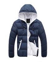 Wholesale Coat Handsome - 2016 new winter men's hooded cotton male New thick warm male Korean handsome man coat coat Cotton Mens gentleman
