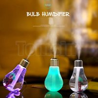 Wholesale China Makers - Free DHL 400ML USB Lamp Bulb Humidifier DC 5V Night Light Air Ultrasonic Humidifier Oil Essential Aroma Diffuser Mist Maker Fogger