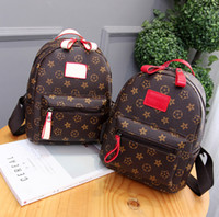 Wholesale Ladies Shoulder Computer Bag - 2017 new fashion ladies bag old flower shoulder bag mini simple package shoulder pattern PU print geometry Zipper Backpack - Free Shipping