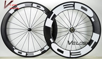 Wholesale 88mm Wheels - Outlet ! HED Full carbon bike wheelset, front 60mm,rear 88mm, clincher tubular ,700C road bike carbon wheel free shipping