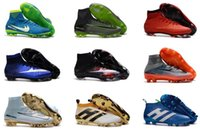 Wholesale soccer cleats for boys - Newairl kids soccer shoes for boys mercurial superfly fg cr7 sock boots football womens men high tops ronaldo ankle indoor soccer cleats