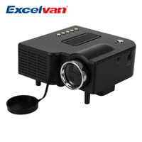 Wholesale 28 Led Usb - Excelvan UC28 Portable Mini Projector Multimedia Cinema Theater UC-28 Digital LED Projector VGA USB SD AV HDMI Projector