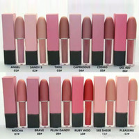 Wholesale M C Lustre Lip Gloss Makeup Lips Lipstick Colors With Retail Package Box DHL