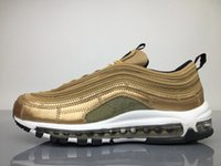 Wholesale Reflections Gold - 97 OG CR7 UNDEFEATED X MEN RUNNING SHOES 3M REFLECTION WHITE GOLD SNEAKERS OUTDOOR SHOES TOP QUALITY WITH ORIGINAL BOX