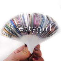 nagelstreifen strippband großhandel-30 Farbe gemischt Rollen Striping Tape Metallic Line Kleber Stick Streifen Nail Art Dekoration Aufkleber