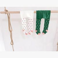 Wholesale Korean Boy S - Korean Flower Girl Tights 2016 New girls winter leggings Printed children cotton leggings baby girl tights 7207