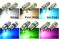 ingrosso miniatura bianca-E10 5-SMD 5050 LED Bianco / Caldo / Iceblue / Blu / Verde / Rosa Lampadina a vite miniaturizzata MES per lampada LIONEL DC 12V fai da te