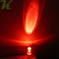Wholesale 5mm Lights - 1000pcs 5mm Red Round Water Clear LED Light Lamp led Diodes 5mm Red led lamps Free Shipping