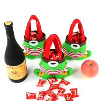 Compra Stile Decorazione Del Partito-In magazzino Cartoni da regalo di Natale Borsa Elf Santa Pantaloni Style Candy Zuccheri Borse Demon Borse Borsa in cotone di Natale per i bambini Kids Party Decoration Supplies