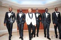 Wholesale Coat Tie For Men - (k7) 3 groom new custom dress, suitable for the best man men's suit of the groom's wedding (coat + pants + tie) black