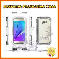 Wholesale Metal Dove - Shockproof Waterproof Anti-Scratch Diving Case For iPhone 6 6S Plus 5 SE Samsung Note7 Galaxy S7 edge S6 edge Note 5 Retail Box
