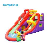 rebote inflável para crianças venda por atacado-Atacado-5601 PVC Bounce house trampolim inflável pulando castelo inflável bouncer jumper com parque de diversões indood para crianças