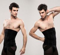 butt lift shapewear toptan satış-Toptan-2 adet / takım Erkekler zayıflama bel eğitimi kemeri tummy giyotin kemer dikişsiz nefes uyluk butt lift külot shapewear kuşak + pantolon