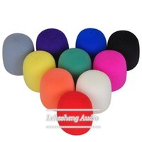 Wholesale Mic Windshields - 20 Pcs Lot Handheld Microphone Mic windscreen Grill Windshield Wind Shield Cover Thick Washable