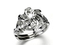 Wholesale Lord Rings 925 - size 5 6 7 8 9 10 Soild 925 sterling silver Lord of the rings Topaz Nenya Wedding Ring