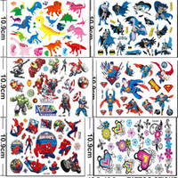 Wholesale Tattoos Stickers For Body - 50styles Cartoon Anime Tattoos Stickers Batman Superhero The Avengers flowers dinosaurs Temporary Tattoos kits Stickers Body For Women Men